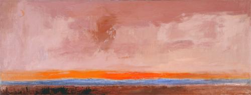 """Horizon"", 20x36, 1980s, Michio Takayama"