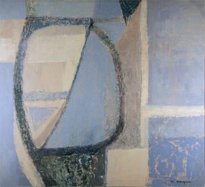 """Promethean Edifice"", 36 x 40, 1980s, Michio Takayama"